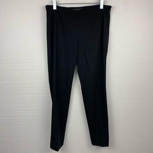 Theory Black Slim Leg Wool Pants, Size 2